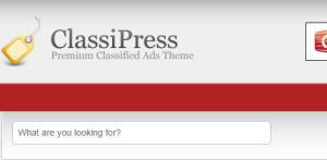 Classipress missing menu item